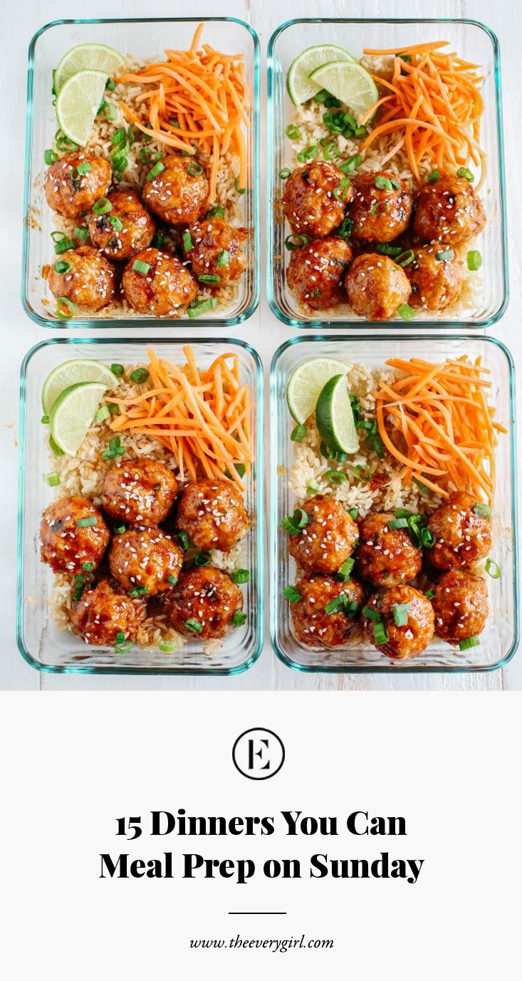 15 Dinners You Can Meal Prep on Sunday