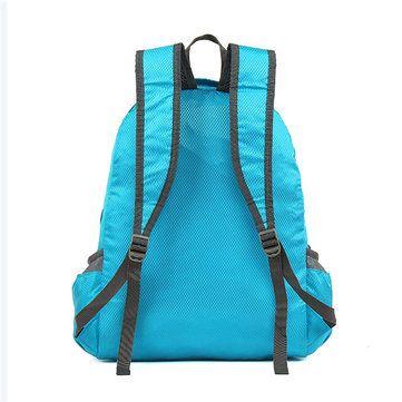 Nylon Folding Light Backpack Casual Sports Travel Shopping Bag Shoulder Bags - US$13.47