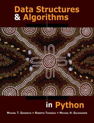 I'm selling Data Structures and Algorithms in Python by Michael T. Goodrich, Roberto Tamassia and Michael H. G. - $40.00 #onselz