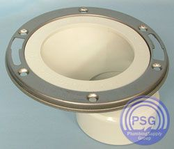 PVC Offset toilet flange so you can move your toilet