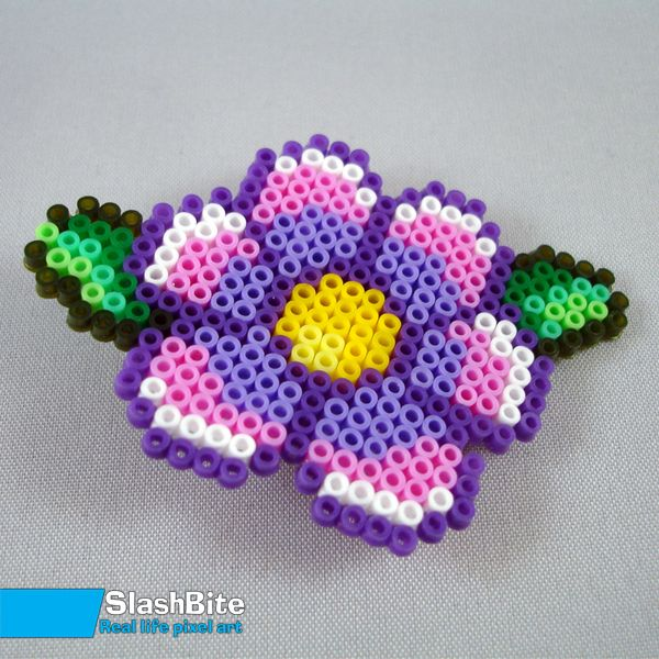 Hairpin Purple flower by SlashBite on deviantart