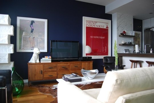 Colour And Design   Simple Elements Contrasted With Natural Textures And  Graphic Prints | Ponder | A Living Room | Pinterest | Dark Walls, Blue  Accent Walls ... Part 71