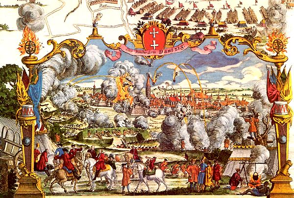 Siege of Danzig by Russians 1734