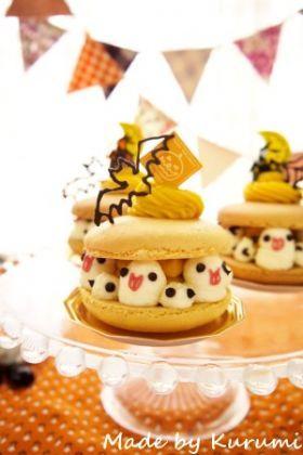 「【ハロウィン】かぼちゃのマカロンケーキ」くるみ | お菓子・パンのレシピや作り方【corecle*コレクル】