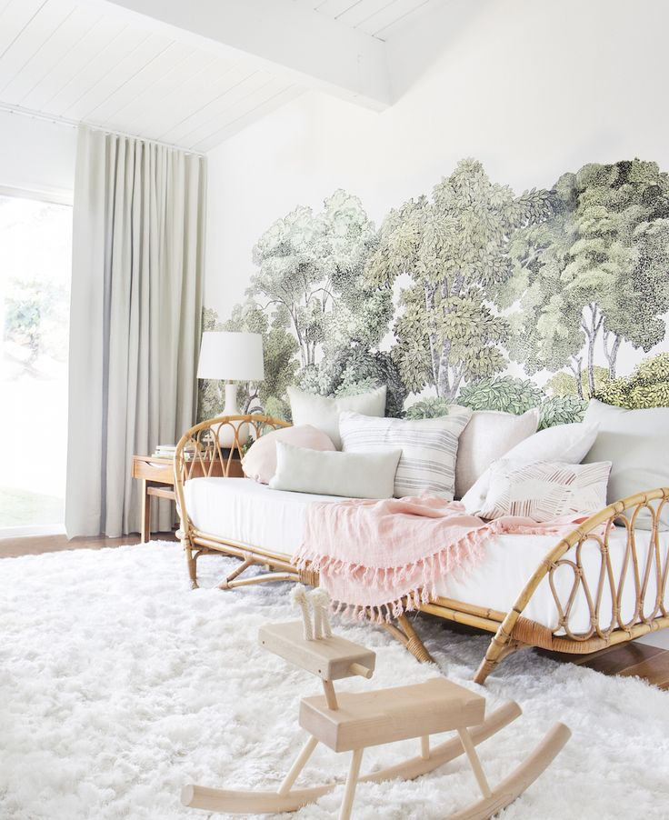 Elliot's nursery is finished, and just like that baby you see there, it is pretty darn magical. This room is both airy and cozy, welcoming and minimal, grown-up and yet so playful. The first two weeks after giving birth were spent in here nursing, watching reruns of Parenthood and Brothers and Sisters (for the first... Read More …