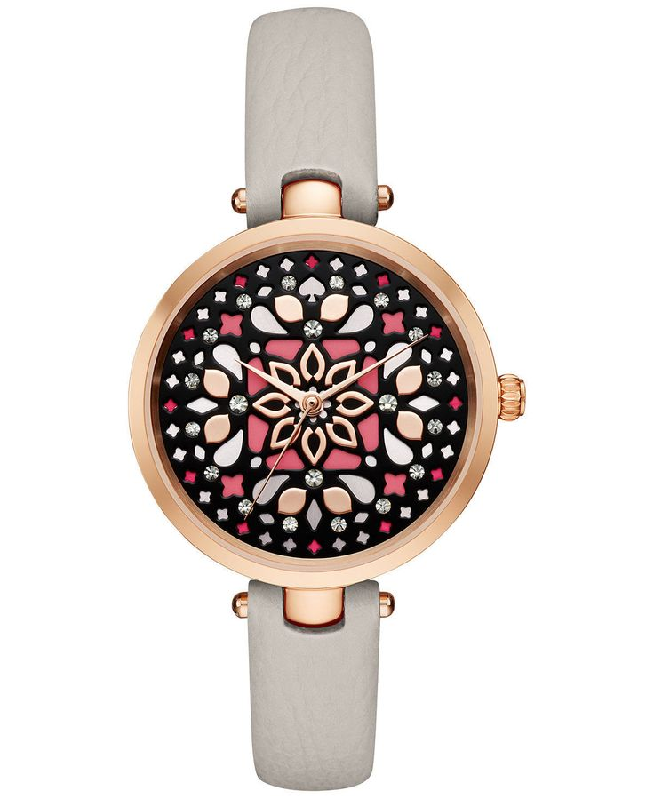 NWT KATE SPADE (KSW1260) ROSE GOLD TONE METRO HOLLAND MOSAIC TAUPE WATCH SALE!