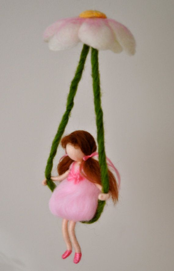 Wall Hanging Room Decoration Waldorf inspired :  Girl by MagicWool