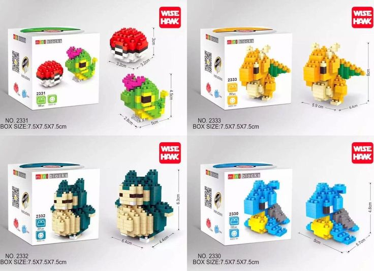 NEW Play Pokemon Games Center Figures Lot Micro Nano Block Pokeball Nanoblock #Wisehank