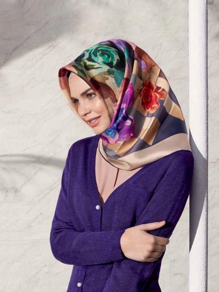 Armine : Brilliant Color Hijab with Turkish Hijab Style - Beautiful Hijab Styles