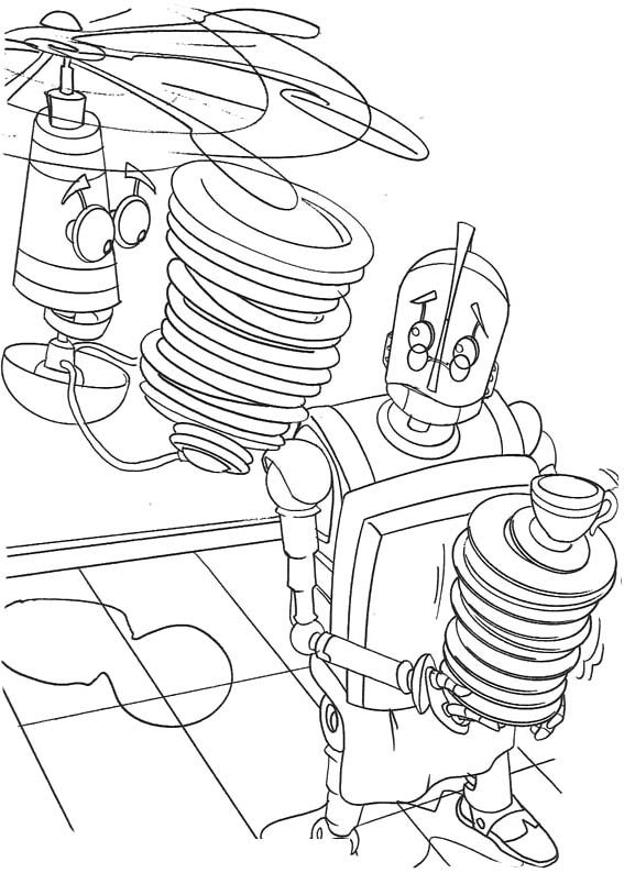 Robots Sad Coloring Page