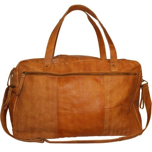 Lysebrun Dixie Burned Tan Weekend bag fra DIXIE