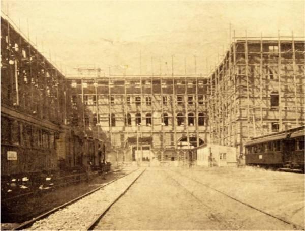 Haydarpaşa İstasyon inşaatı, 1903.