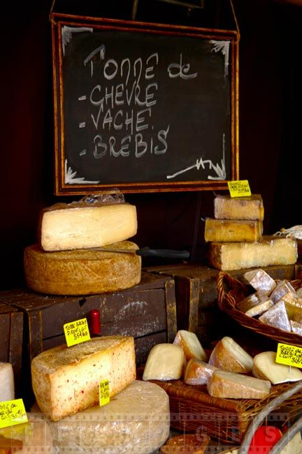 Cheeses made from various milk - goat, cow and sheep