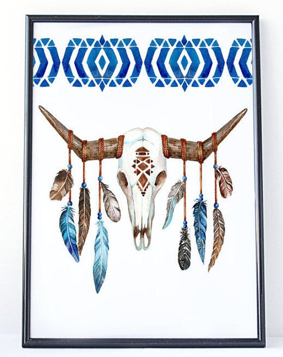 Boho Prints Boho Decor Wall Decor Tribal by PrintablePixelArt