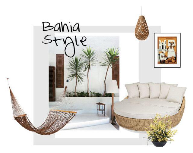 """Bahia Style"" by tarekzg on Polyvore featuring interior, interiors, interior design, hogar, home decor, interior decorating, NOVICA, Sunset West, Frontgate y David Trubridge"