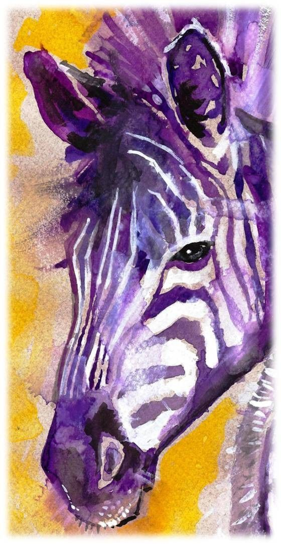 """Zebra Watercolor Painting Print, Artist-Signed 