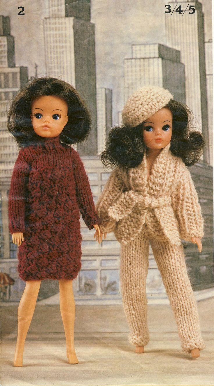 Knitting Clothes For Barbie Dolls : Robin bears belles knitting booklet two outfits for