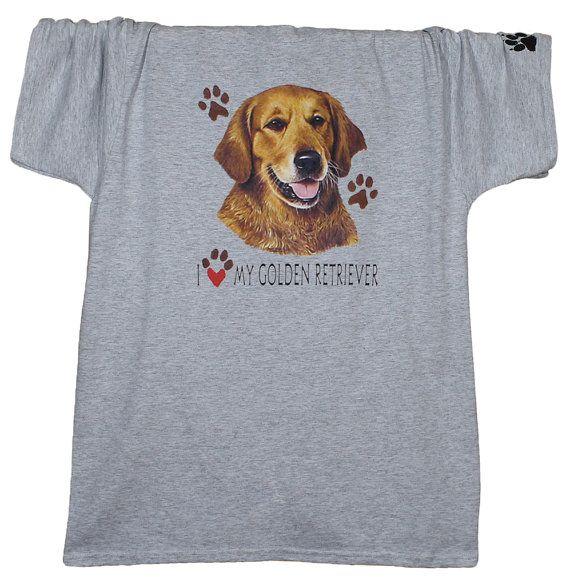 Golden Retriever camiseta impresiones de la pata camiseta