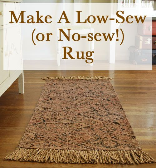 Easy Homemade Rugs | homemade rug