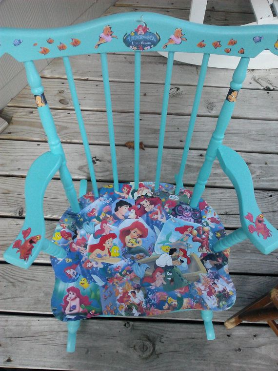 Hey, I found this really awesome Etsy listing at https://www.etsy.com/listing/192810966/decoupage-disney-little-mermaid-chair