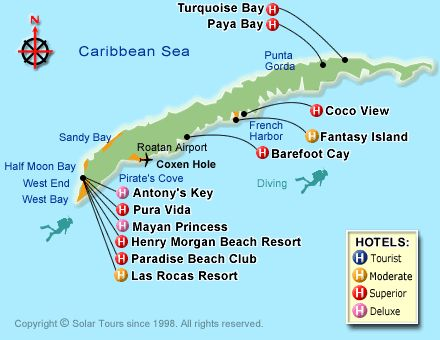 map of roatan - Google Search