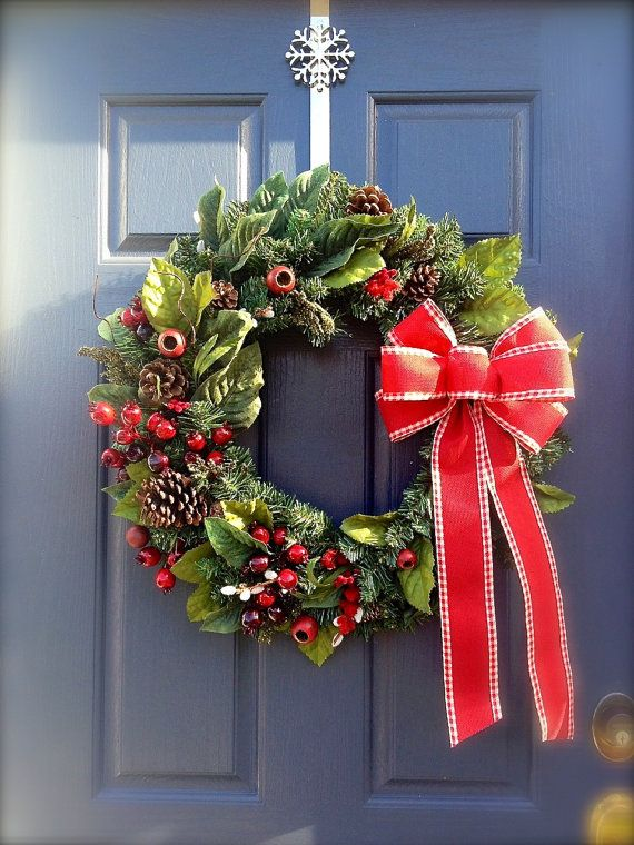 Evergreen Christmas Wreath Winter Wreath by WreathsByRebeccaB, $58.00