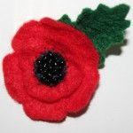 My Rememberance Day Felt Poppy Brooch/Corsage