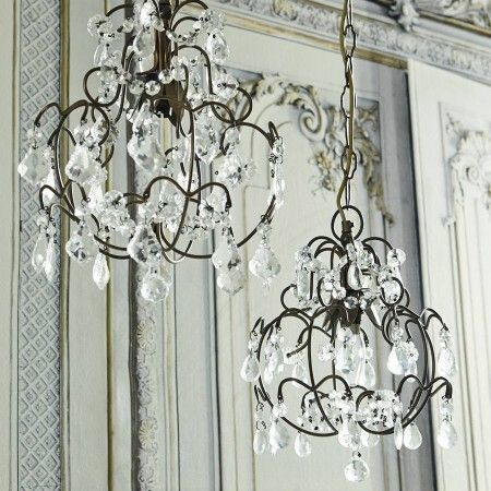 Chantal Crystal Drop Chandelier - View All Lighting - Lighting - Lighting & Mirrors