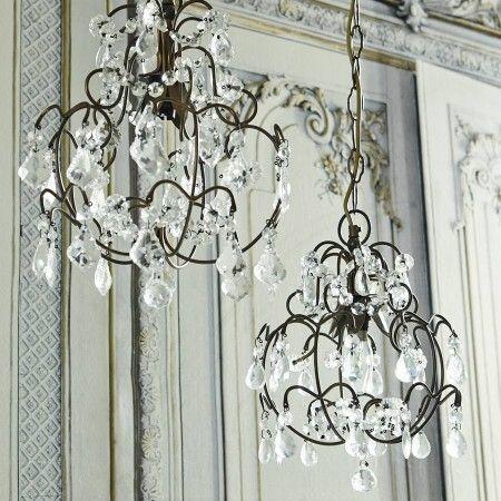 Chantal Crystal Drop Chandelier - View All Lighting - Lighting - Lighting & Mirrors