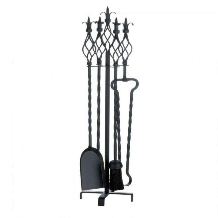 Fleur-De-Lis Fireplace Tool Set Room Winter Heating Fire Stylish Warm Home Clean #AccentPlus
