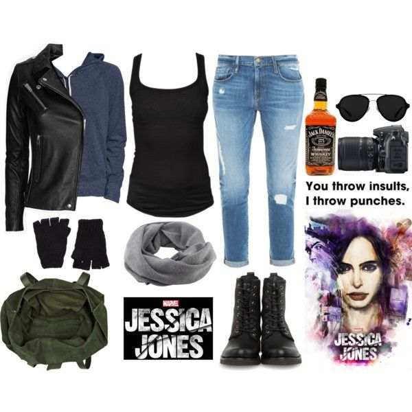Jessica Jones by teenwolf-inspired on Polyvore featuring Isabel Marant, Old Navy, IRO, Frame Denim, Frye, River Island, Coal, The Elder Statesman, 3.1 Phillip Lim and Nikon