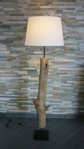Stehlampe-Treibholz-Schwemmholz-Designerlampe-Vintage-Shabby