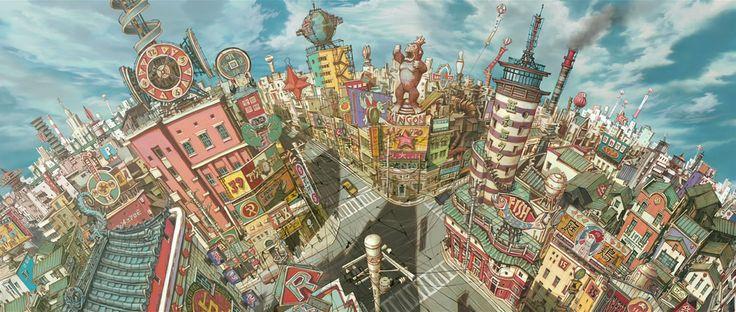 TekkonKincreet [( Science-fiction, dystopia, future noir, Blade Runner, cyberpunk, night skylines, dark city, Metropolis )]