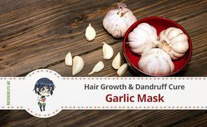 Garlic masks have stimulating and strengthening properties. They facilitate healthy hair growth and thereby reduce dandruff, prevent hair loss. Their main function is to increase
