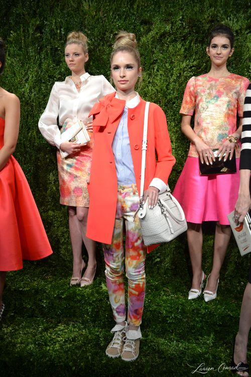 Kate Spade Spring 2014 Presentation {cute orange trench coat}