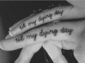 til my dying day finger tattoo
