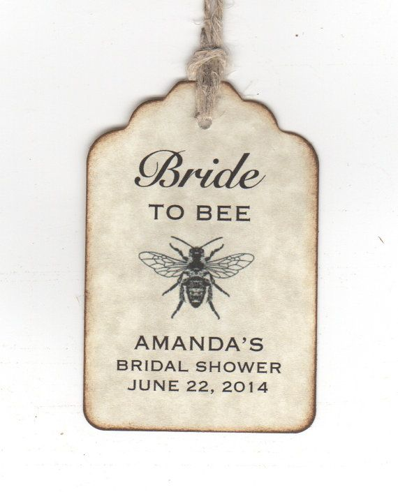 50 Bride To BEE Wedding Bridal Shower Favor Gift by luvs2create2, $31.25