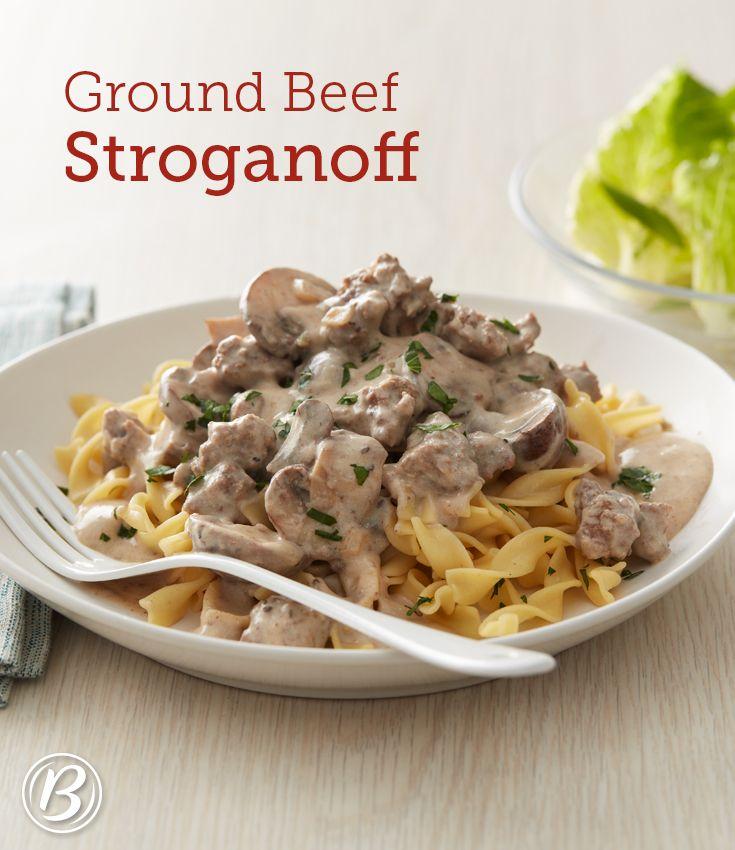 Ground Beef Stroganoff Recipe In 2019 Family Dinners