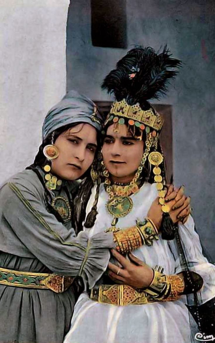 Africa | Ouled Nail women. Algeria. || Scanned vintage postcard