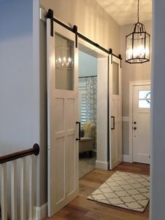 I think that this may be perfect for nook to playroom opening Sliding Barn Door Hardware craftsman entry
