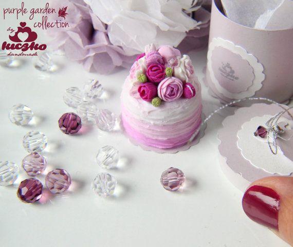 Casa de muñecas miniatura alimentos rosa pastel por KiczkoHandmade