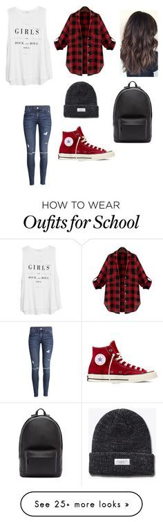 """A day at the school"" by niallerbemine on Polyvore featuring MANGO, H&M, Converse and PB 0110"