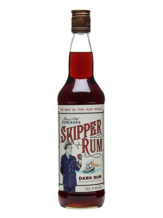 A historic rum brand, Skipper is a dense, dark molasses-based rum made in Guyana.  This great value Demerara rum picked up a Gold Medal at the 2012 Rum Masters in the Dark Rum Aged Up to 7 Years ca...