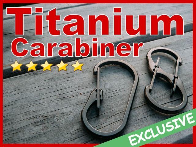 TiBiner™: Ultimate Titanium Carabiner For Everyday Carry EDC