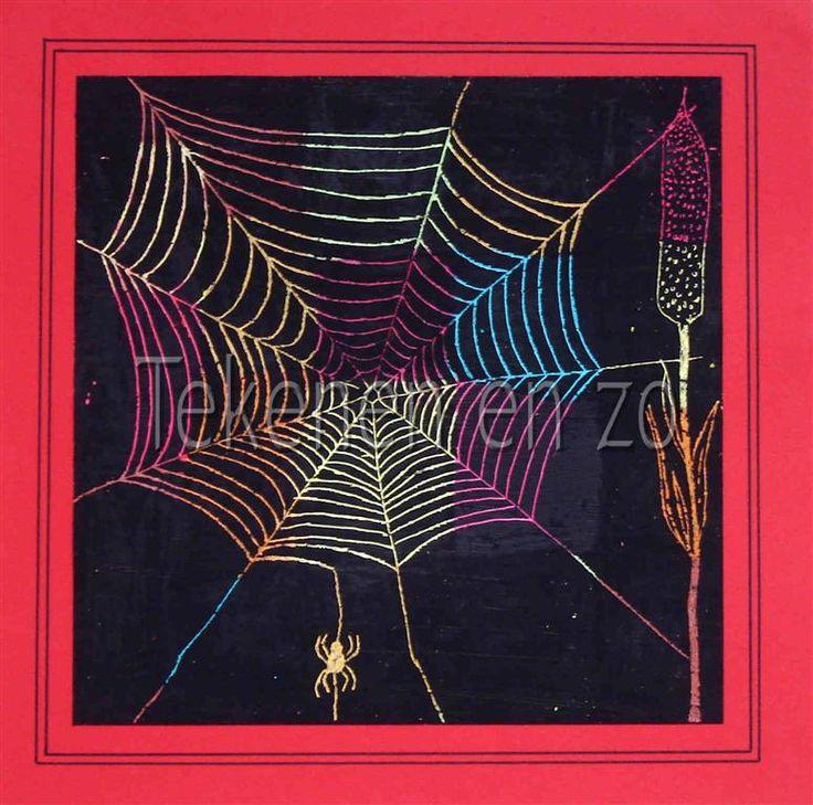 Tekenen en zo: Als een spin in het web