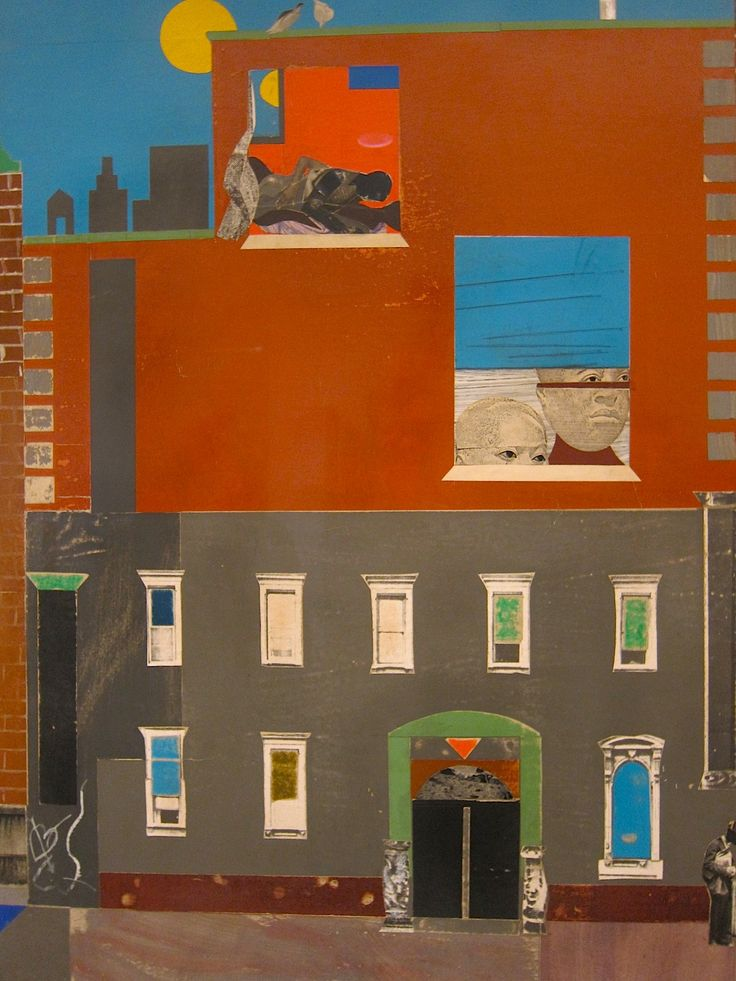 magictransistor:  Romare Bearden, The Block (detail), 1971.