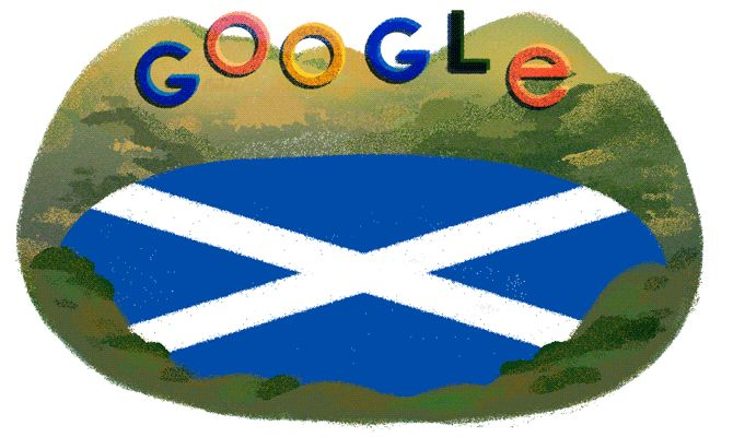 St. Andrew's Day google doodle - The animated doodle by Sophie Diao features Scotland's 'most reclusive citizen', says Google.