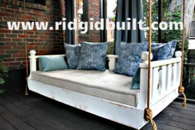 Custom built New Orleans style black shabby chic daybed swing by Ridgidbuilt on Etsy https://www.etsy.com/listing/126986599/custom-built-new-orleans-style-black
