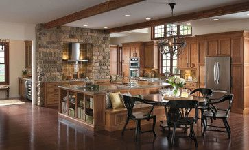 Omega Cabinetry: Delray Cherry Sage traditional kitchen