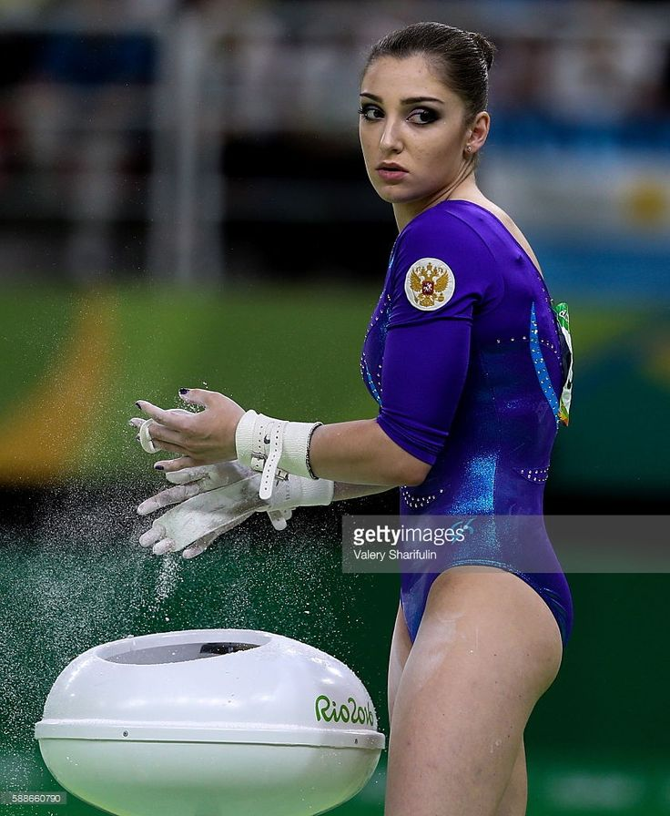 Aliya Mustafina of Russia prepares to perform her uneven bars routine to win bronze in the artistic gymnastics women's individual all-around final at the Rio 2016 Summer Olympic Games, at the Rio Olympic Arena. Valery Sharifulin/TASS